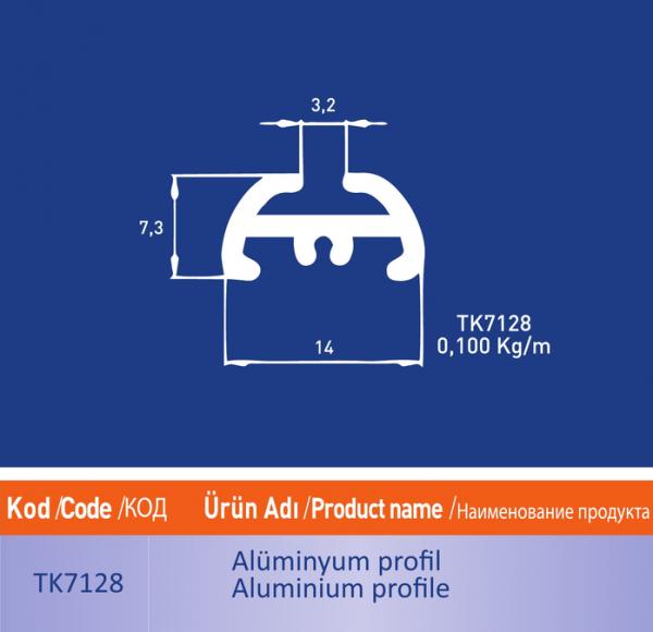 alüminyum profil TK7128
