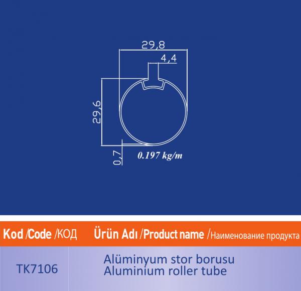 alüminyum stor borusu TK7106