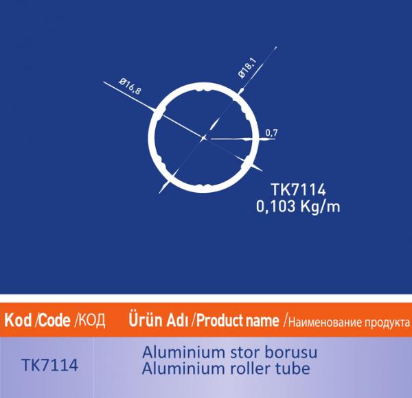 alüminyum stor borusu tk7114