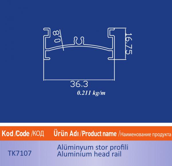 alüminyum stor profili TK7107