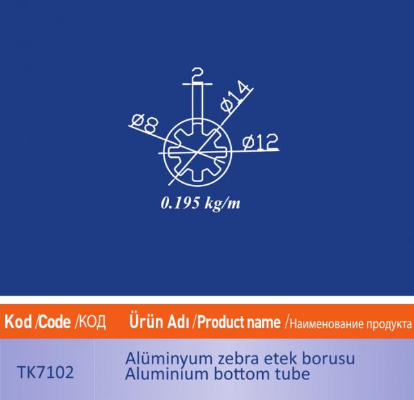 alüminyum zebra etek borusu TK7102