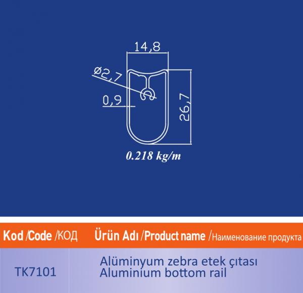 alüminyum zebra etek citasi tk7101