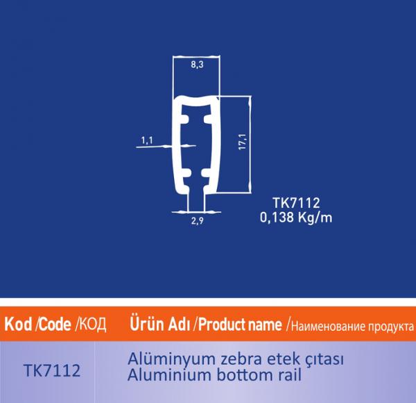 alüminyum zebra etek citasi tk7112