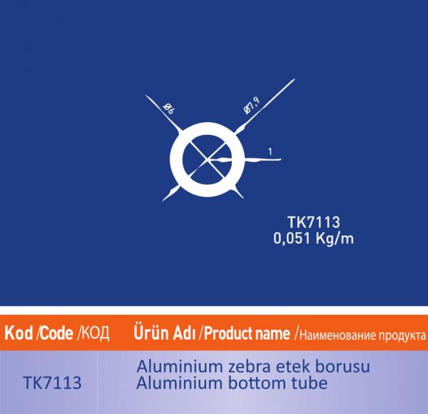 alüminyum zebra etek citasi tk7113