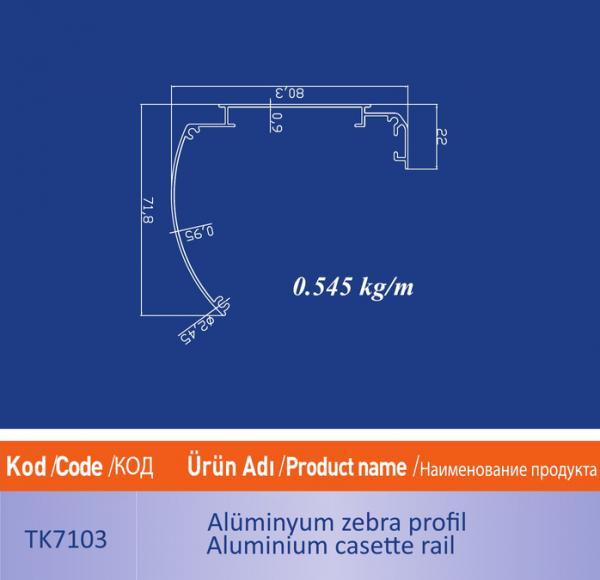 alüminyum zebra profil TK7103