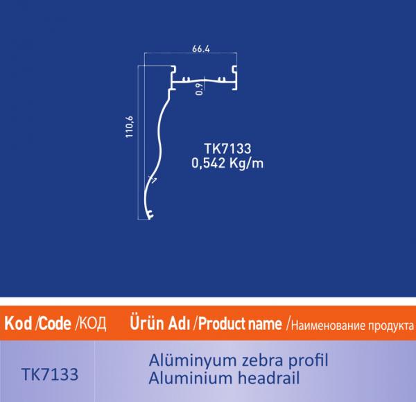 alüminyum zebra profil TK7133