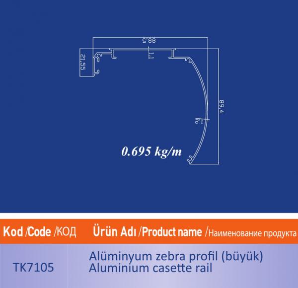 alüminyum zebra profil buyuk tk7105