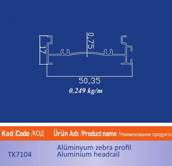 alüminyum zebra profil tk7104
