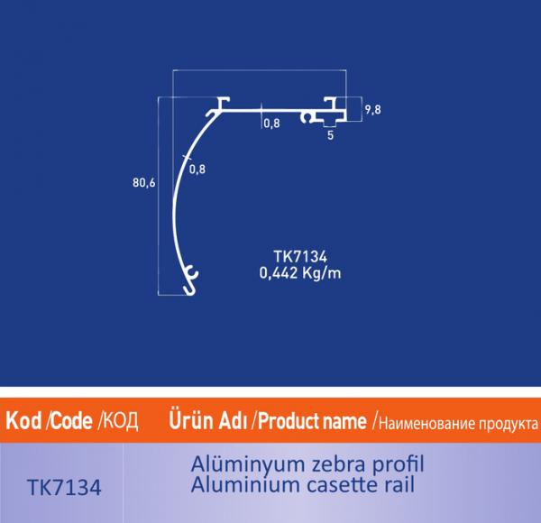 alüminyum zebra profil tk7134
